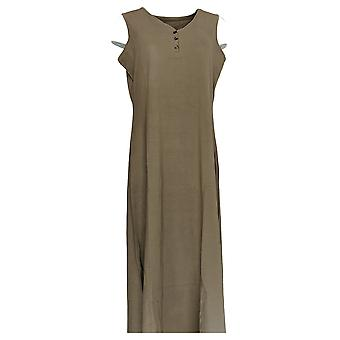 Denim & Co. Women's Petite Sleeveless Knit Maxi Dress Brown A307441