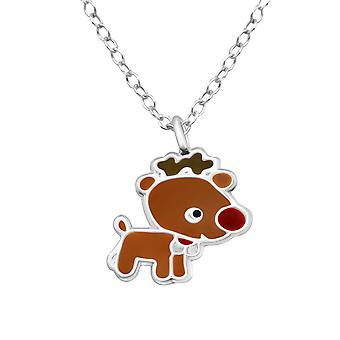 Reindeer - 925 Sterling Silver Necklaces - W28063x