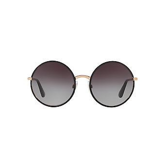 Dolce&Gabbana DG2155 1296/8G Matte Black/Grey Gradient Sunglasses