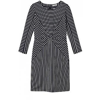 Sandwich Clothing Dark Sapphire & White Striped Dress