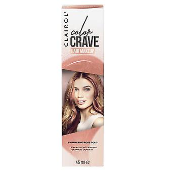 Clairol Color Crave Hair Make Up Washes Out with Shampoo 45ml Shimmering Rose Gold