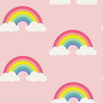 Rainbow Wallpaper Pink / Multi Belgravia Decor 9991