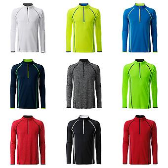James and Nicholson Mens Long Sleeve Top Sports