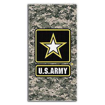 US Army Camo Logo 30x60 Beach Towel