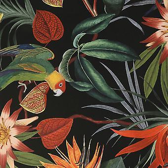 Superfresco Easy Parrot Wallpaper Black Graham and Brown 108602