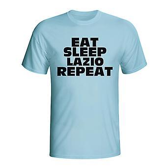Comer dormir Lazio repetir camiseta (azul cielo)
