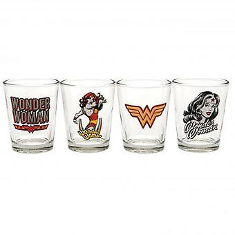 Wonder Woman 4pk Shot Glass Set