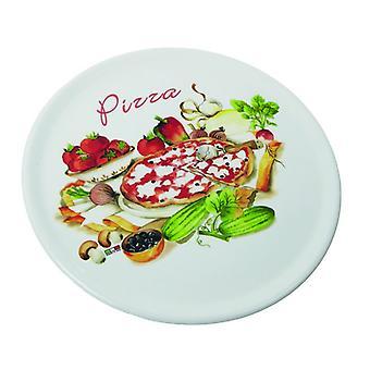 Piatti Decor New Multicolore in Ceramica, L33xP33 cm