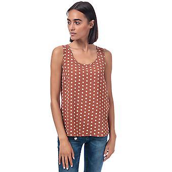 Women's Only Nova Lux Polka Dot Top in Brown