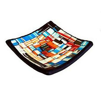 Mosaic Soap Dish - Blue and Red