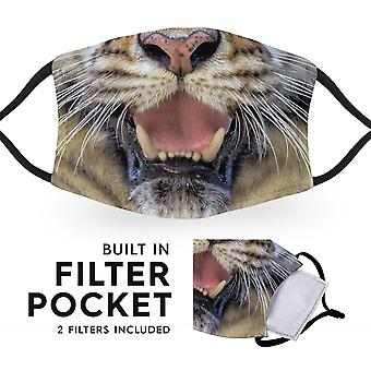 Tiger - Reusable Adult Cloth Face Masks - 2 Filters Included