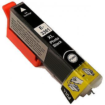RudyTwos Ersatz für Epson 33XL(Orange) Tintenpatrone HighYieldPhotoBlack kompatibel mit Ausdruck Premium XP-530, XP-540, XP-630, XP-635, XP-640, XP-645, XP-830, XP-900