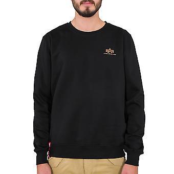 Alpha Industries férfi pulóver alapvető kis logo fólia nyomtatás