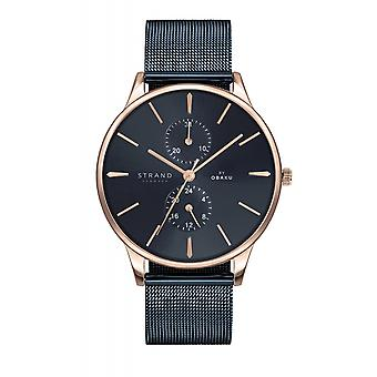 Strand By Obaku S703GMVLML Beaufort-Night Blue Mesh Wristwatch
