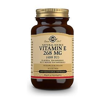 Vitamin E 268 mg 400 IU 100 vegetable capsules (268mg)