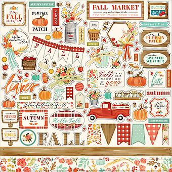 Carta Bella Fall Marked 12x12 Tommer Element Sticker