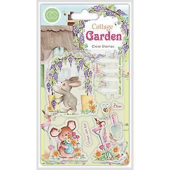 Craft Consortium Cottage Garden Green Fingers Stamps