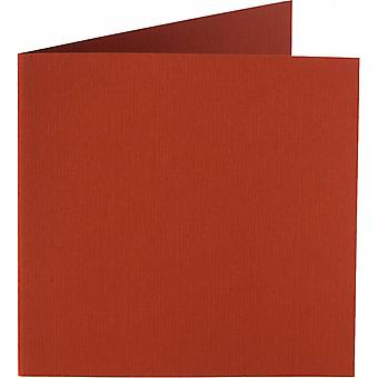 Papicolor 6X Doppelkarte 132X132mm Brick-Red