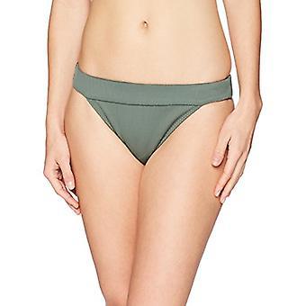 Brand - Mae Women's Swimwear Banded Cheeky Bikini Bottom,Fern Green,La...