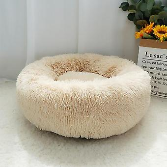 Dog Bed Warm Fleece Round Kennel House Long Plush Winter Pets Dog Beds For Medium Large Dogs Cats Soft Sofa Cushion Mats
