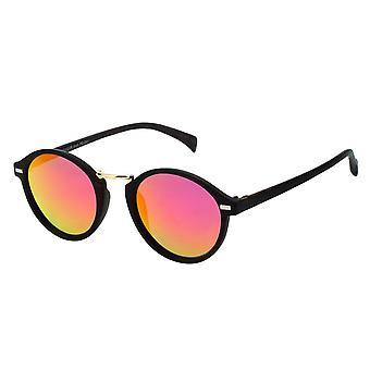 Sonnenbrille Unisex    rund rot/braun (PZ20-051)