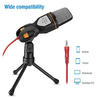 Metal Usb Condenser Recording Voice Over Microphone For Laptop Ktv Or Windows