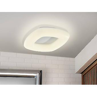 Integrated LED Flush Ceiling Light with Remote Control Matt White