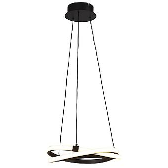 Geïnspireerde Mantra - Infinity Brown Oxide - Plafond hanger 30W LED 2800K, 2500lm, Bruin Oxide, Wit Acryl
