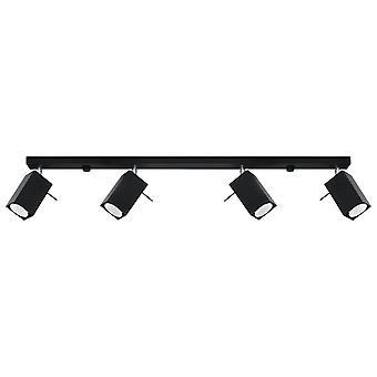 Sollux MERIDA - 4 Light Spotlight Bar Negro, GU10