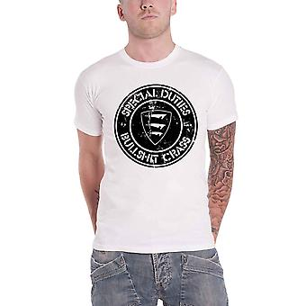 Special Duties T Shirt Bullshit Crass Band Logo new Official Mens White