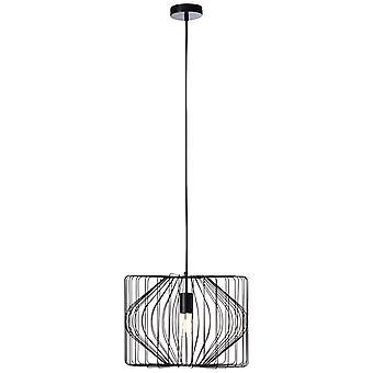 BRILLIANT Bodden Hanglamp 1flg Zwart binnenverlichting, hanglamp | 1x A60, E27, 40W, geschikt voor normale lampen (niet