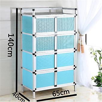 Home Aluminum Alloy Sideboard Kitchen Furniture Sidetable Storage Cabinet