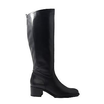 Tamaris 25569 Black Leather Womens Long Leg Boots