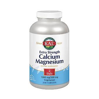 Kal Calcium Magnesium Extra Strength, 250 Tabs