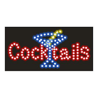 Cocktail Neon Lights Led Animated Customers Attractive Sign