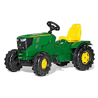 Rolly toys john deere 6210R farmtrac pedal tractor for 3 - 8 year old kids-green