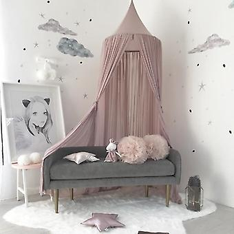 Kid Baby Bed Canopy Bedcover Mosquito Net- Rideau Literie Ronde Tente dôme