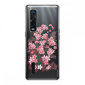 Hull For Oppo Find X2 Pro In Silicone Soft 1 Mm, Cherry Blossoms