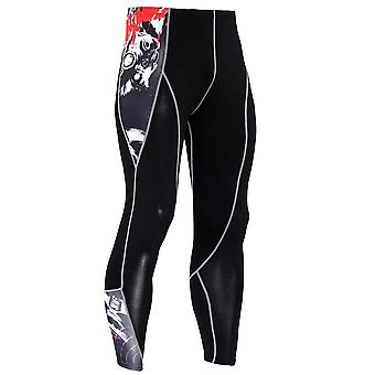 Men Compression Tight Leggings, Running Sports Male Gym Fitness Pants