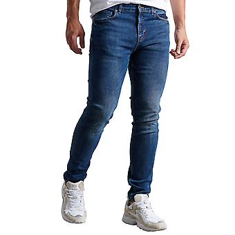 Funky Buddha Men's Loose Tapered Washed Jeans