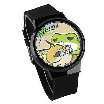 Vodotesné svetelné LED Digitálne Touch Detské hodinky - Cestovanie žaba #11