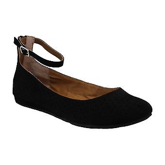 American Rag Womens eeva Suede Closed Toe Ankle Strap Slide Flats