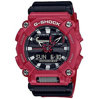 G-Shock Ga-900-4aer Heavy Duty Grey & Red Resin Watch