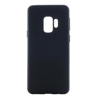Voor Galaxy S9 binnen en buiten frosted TPU Protective Back Cover Case (Zwart)