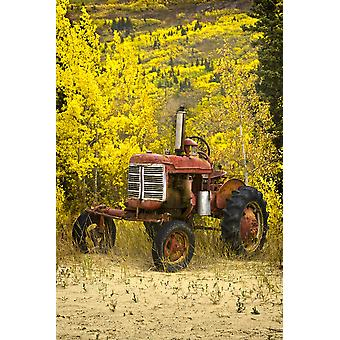 Old Farm Tractor PosterPrint