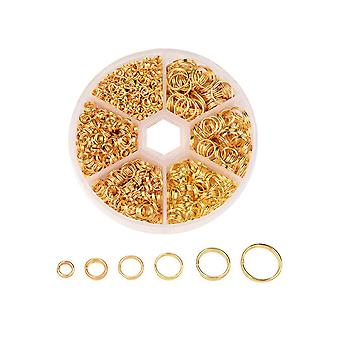 Placage 4-10MM Open Jump Rings Gold for DIY Bracelet Necklace Making Placage 4-10MM Open Jump Rings Gold for DIY Bracelet Necklace Making Placage 4-10MM Open Jump Rings Gold for DIY Bracelet Necklace