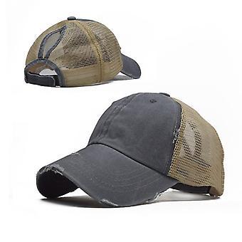 Adjustable Tennis Cap, High Bun, Ponytail Trough Baseball Cap For Female