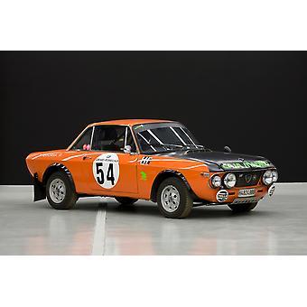 1970`s Lancia Fulvia HF rally car Poster Print