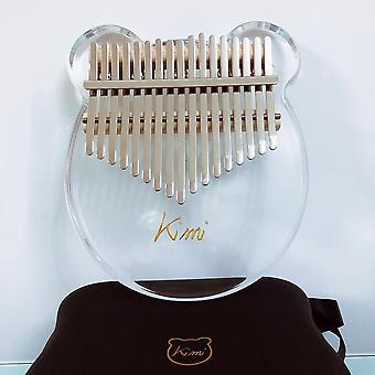Kalimba Acrylic Thumb Piano, Mbira Transparent Keyboard Instrument, Accordeur