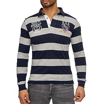 Rugby de manga larga jersey de cuello Uni Poloshirt Polo de los hombres básicos Slimfit hombres nuevos